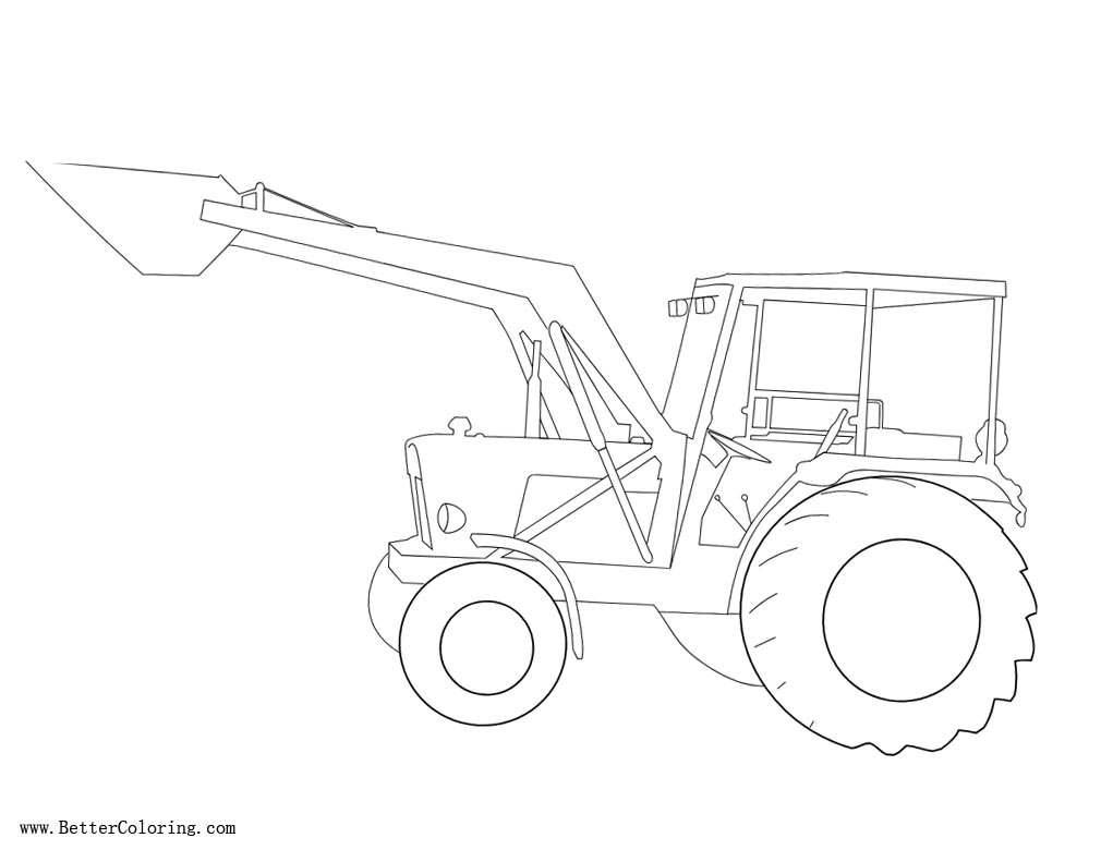 Free Working Tractor Coloring Pages printable