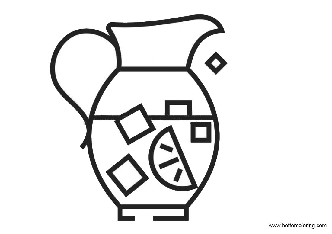 Free A Bottle of Lemonade Coloring Pages printable