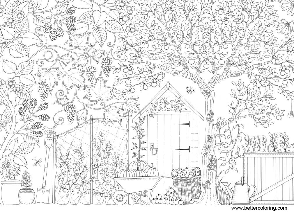 Free Adults Garden Coloring Pages printable
