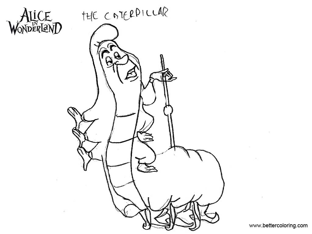 Alice In Wonderland Coloring Pages Caterpillar Fan Art - Free ...