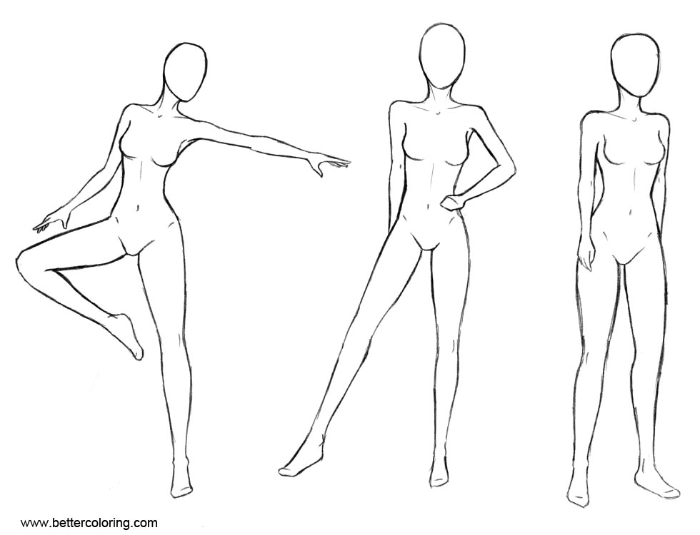 Anatomy Coloring Pages Female Poses by RustSage - Free Printable ...