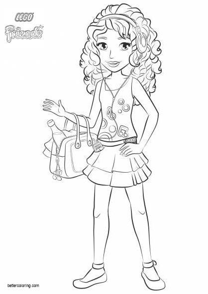 Free Andrea from LEGO Friends Coloring Pages printable