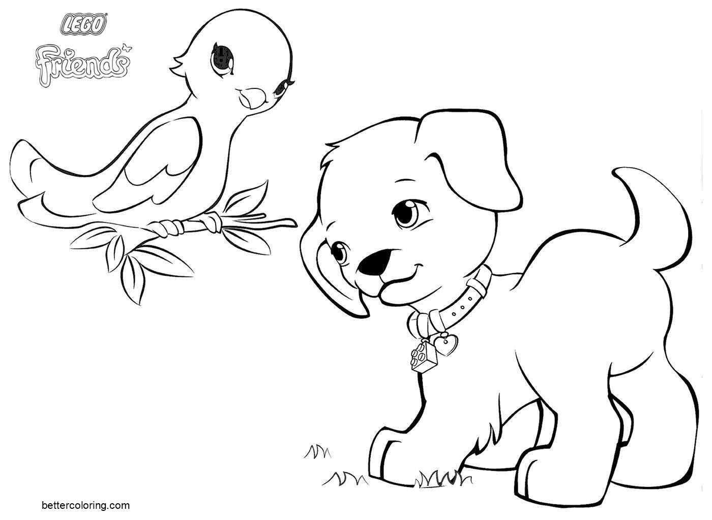 Free Animals from LEGO Friends Coloring Pages printable