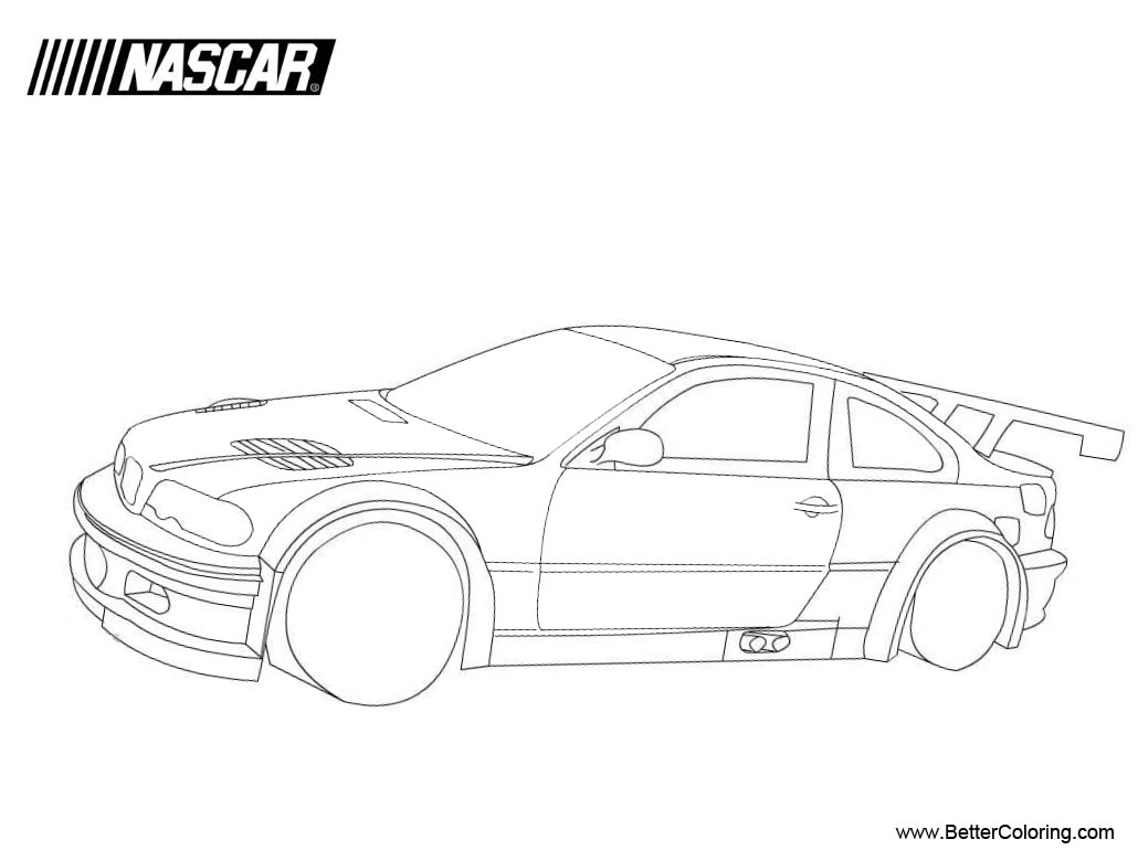 Free BMW Nascar Coloring Pages printable