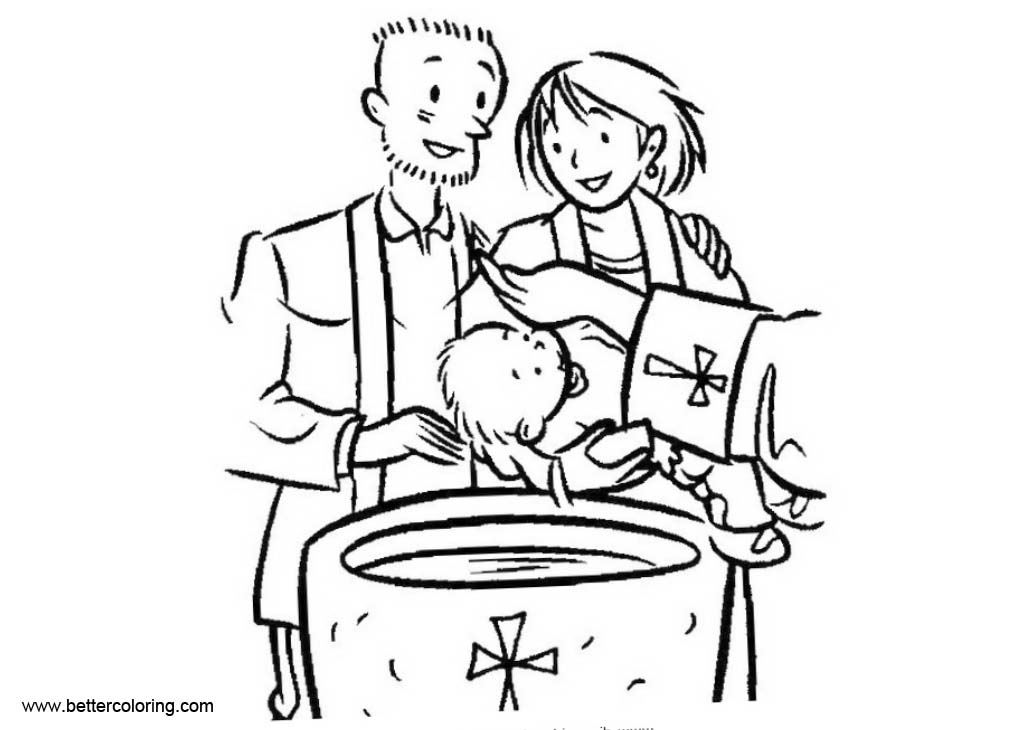Baby Baptism Coloring Pages Free Printable Coloring Pages