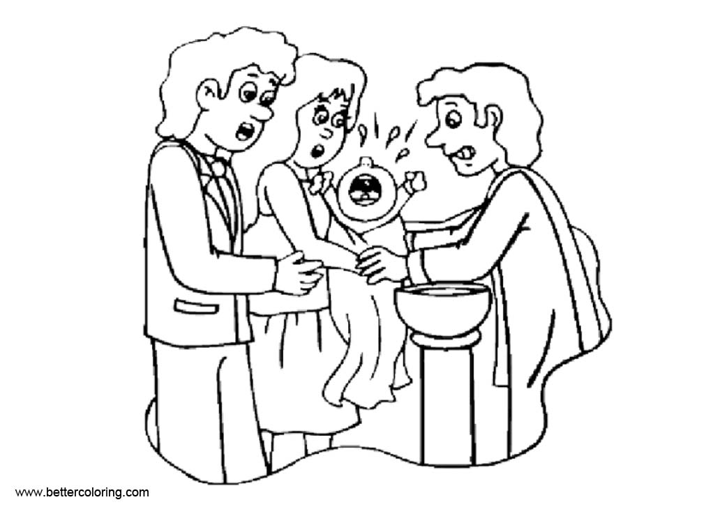 Baptism Coloring Pages Baby Crying Free Printable Coloring Pages