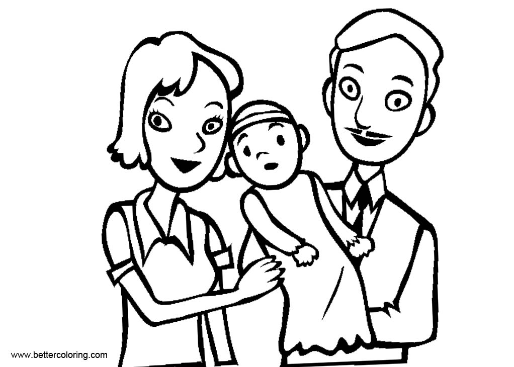 Free Baptism Coloring Pages Family printable
