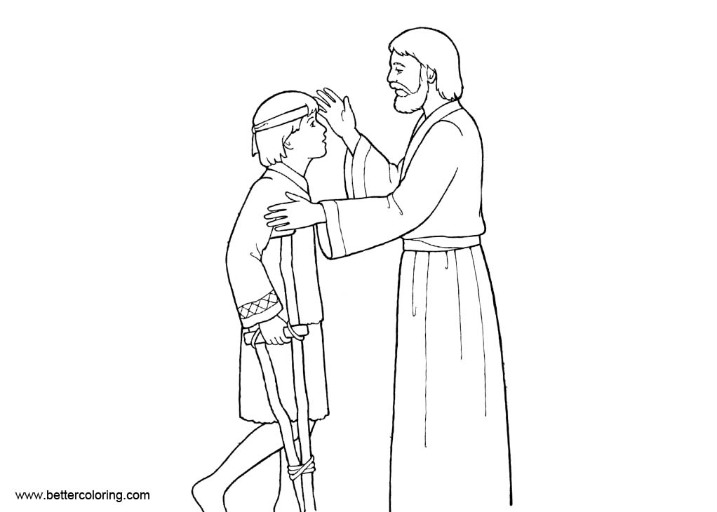 Free Baptism Coloring Pages Jesus Healing The Sick Printable For Kids And Adults