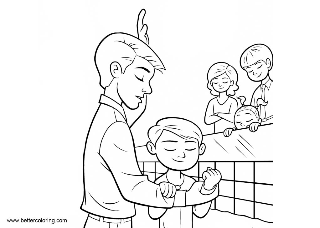 baptism coloring pages for kids - photo#9