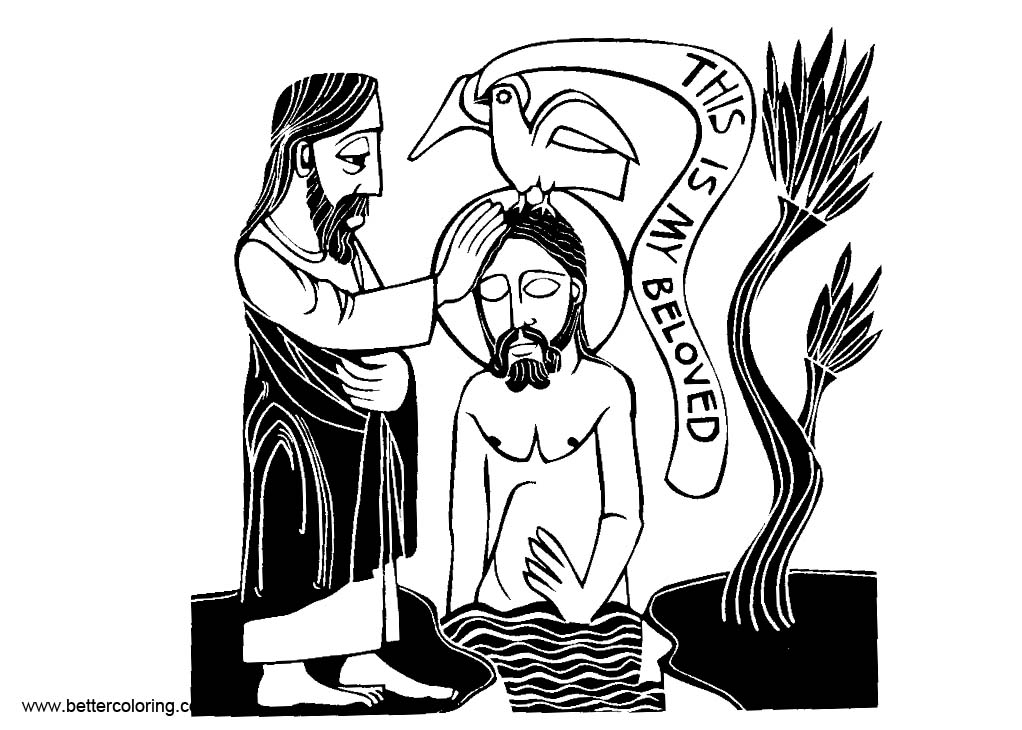 Free Baptism of the Lord Coloring Pages printable