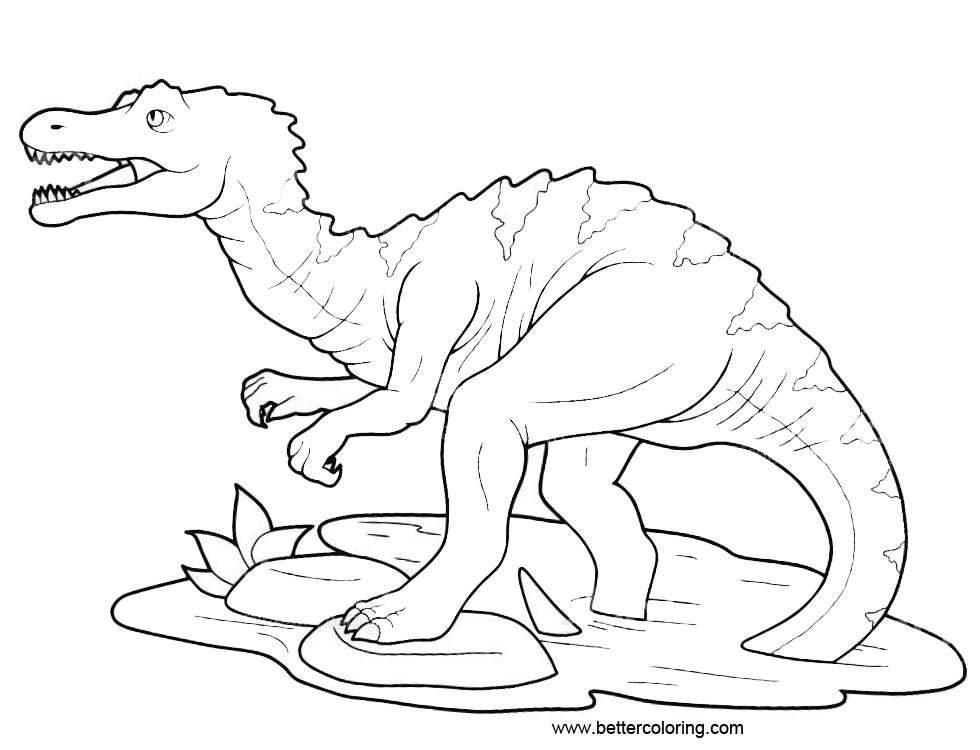 Free Baryonyx from Jurassic World Coloring Pages printable