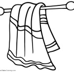 Beach Towel Clipart Folded - Free Printable Coloring Pages