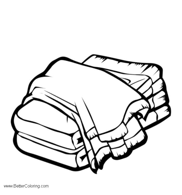 Free Beach Towel Clipart Folded printable