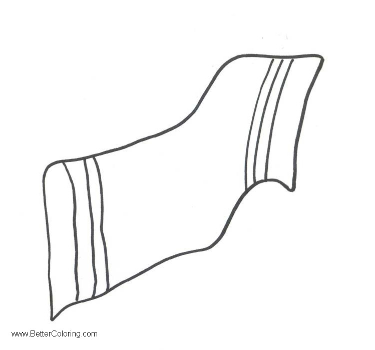 Free Beach Towel Clipart Simple Line Drawing printable