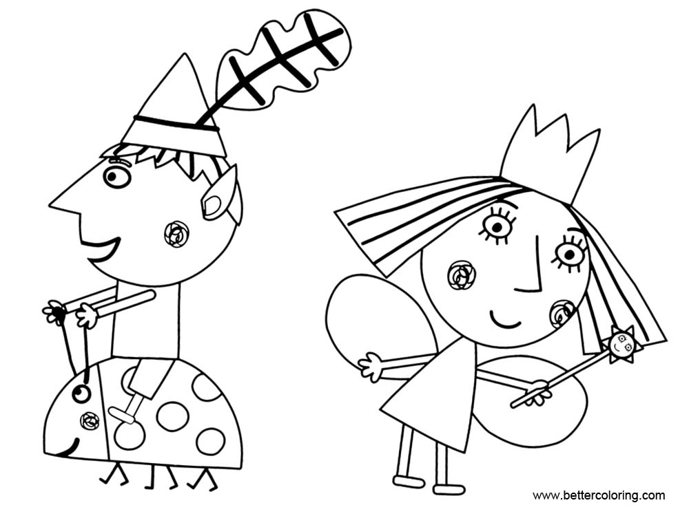 Ben And Holly Coloring Pages Clip