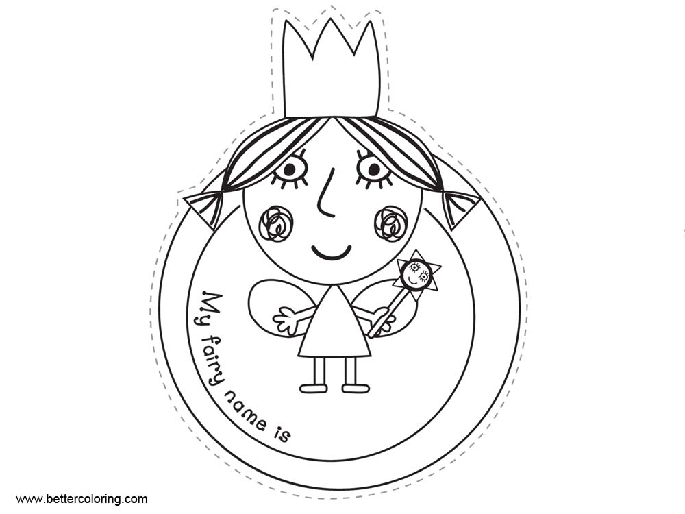 Ben And Holly Coloring Pages Holly Sticker - Free Printable Coloring ...