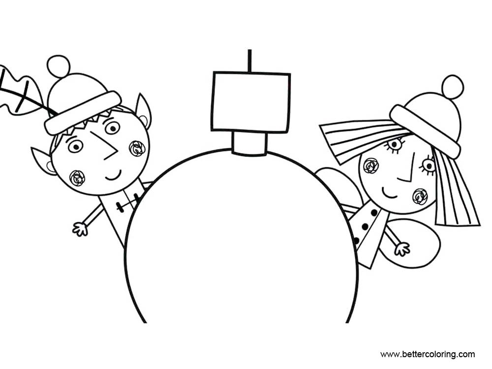 Ben And Holly Coloring Pages Line Drawing Free Printable Coloring