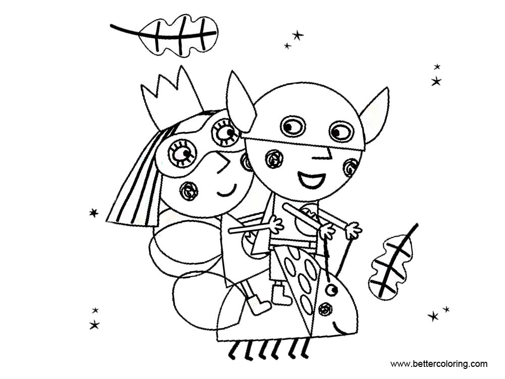 Free Ben And Holly Coloring Pages Little Kingdom printable
