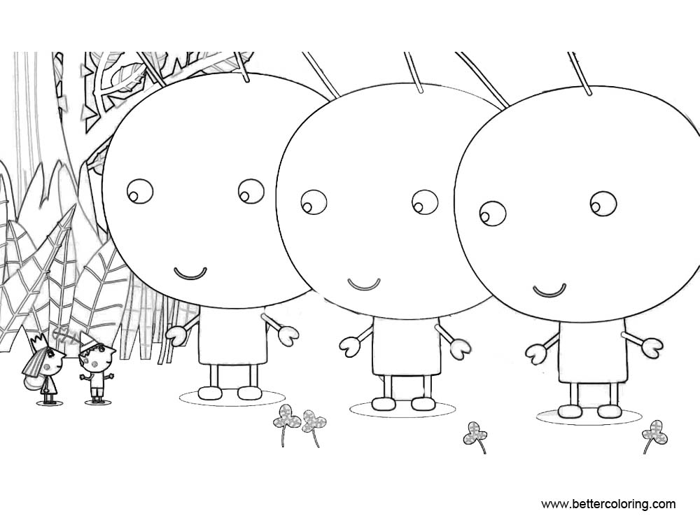 Free Ben And Holly Coloring Pages with Giants printable