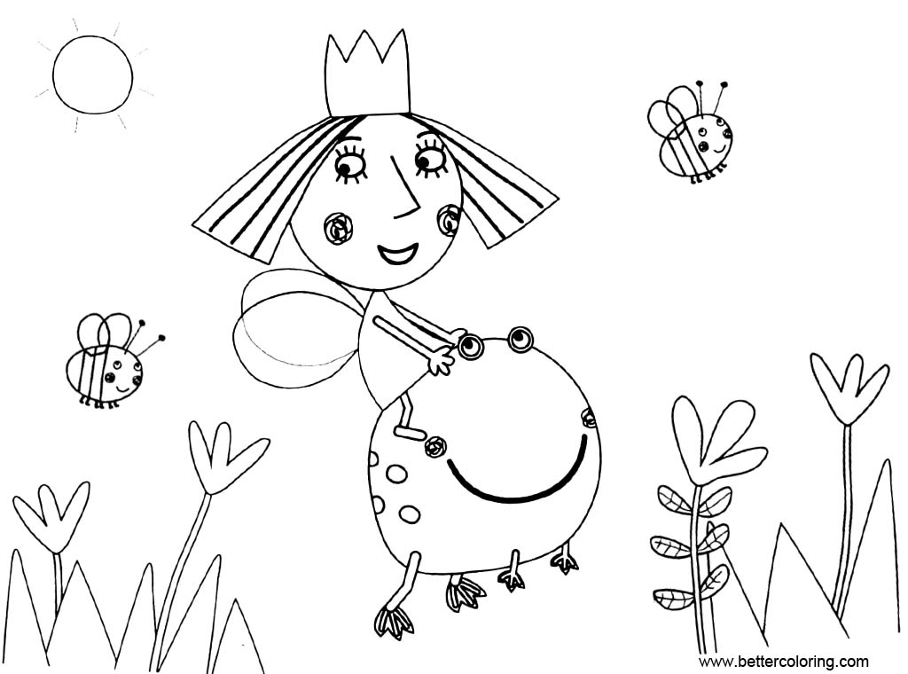 Ben And Holly Coloring Pages - Free Printable Coloring Pages
