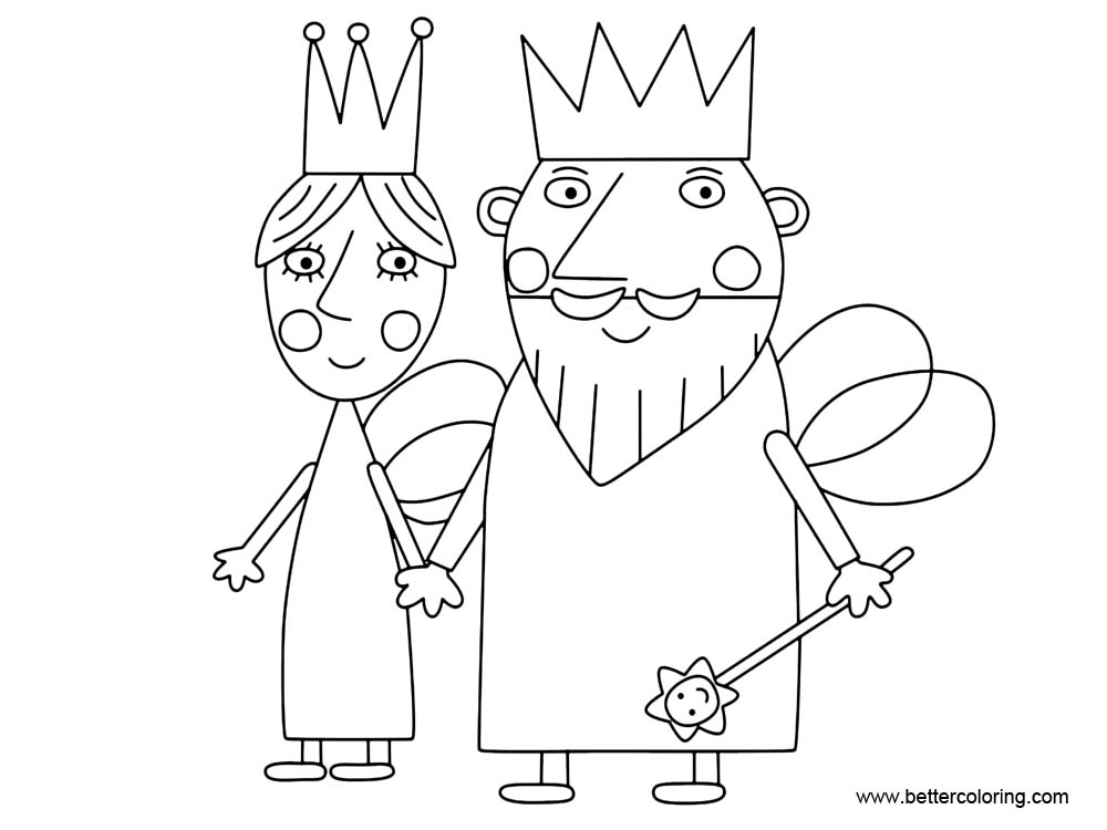 Free Ben And Holly Little Kindom Coloring Pages printable