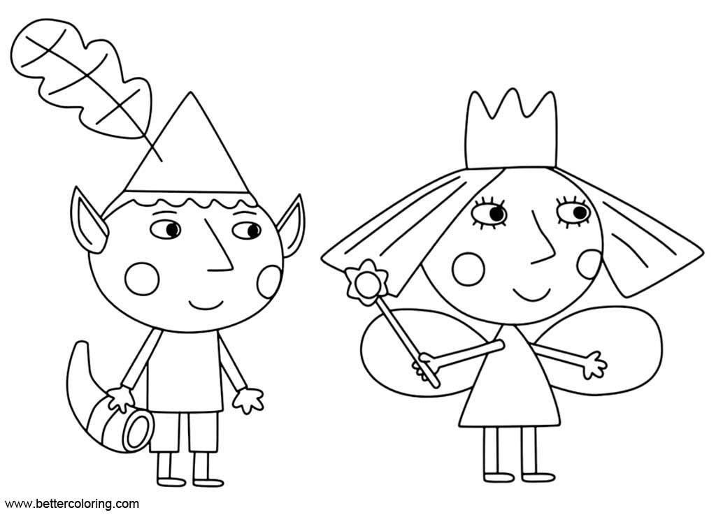 Ben And Holly Little Kingdom Coloring Pages Free