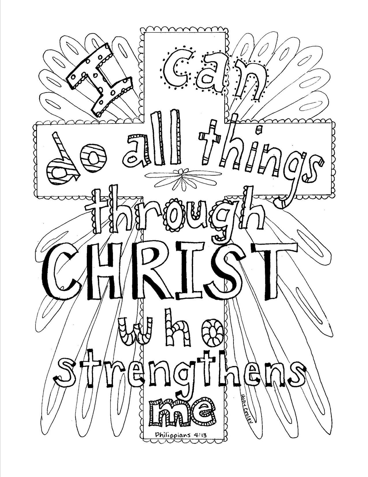 Bible Verse Coloring Pages Bible Quote I Can Do All Things - Free ...