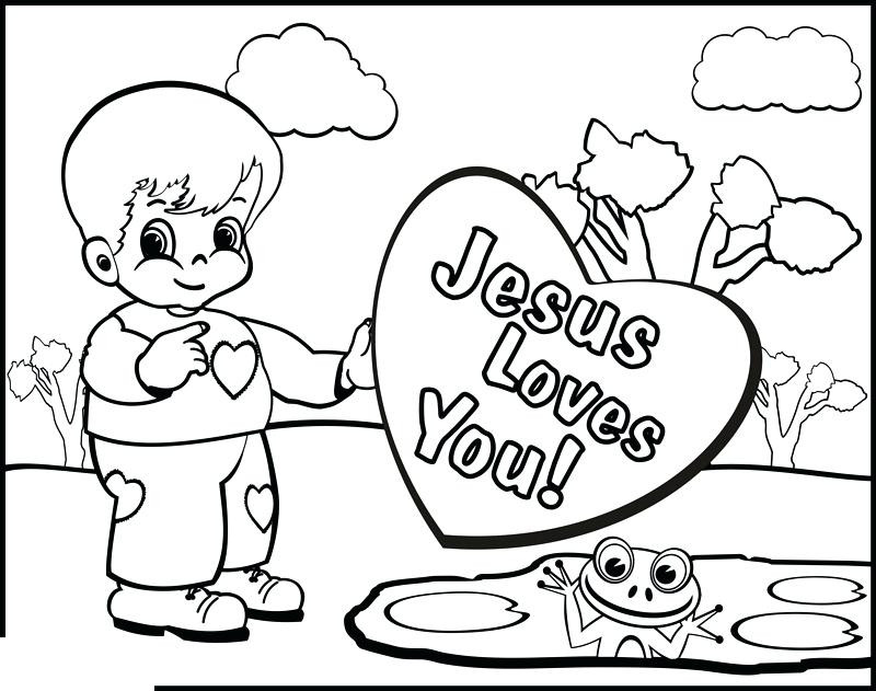 Free Bible Verse Coloring Pages Jesus Loves You printable