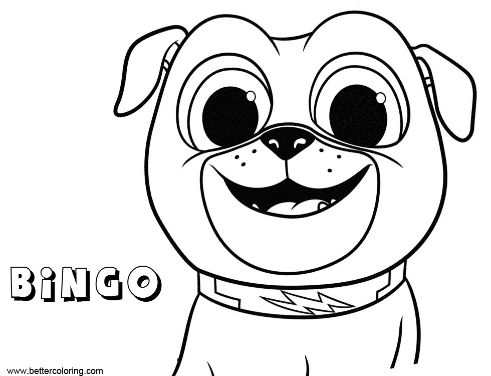 Bingo From Puppy Dog Pals Coloring Pages Free Printable Coloring Pages