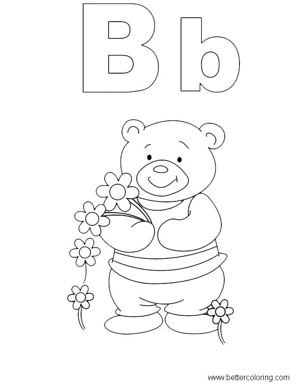 Free Build A Bear Coloring Pages B for Bear printable