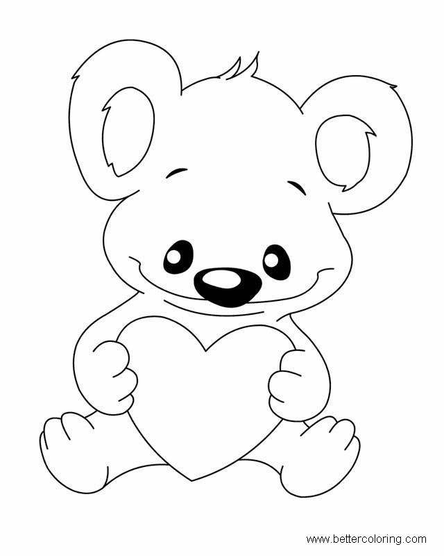 Free Build A Bear Coloring Pages Baby Bear printable