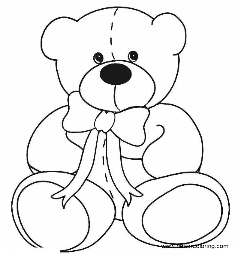 Free Build A Bear Coloring Pages Line Drawing printable