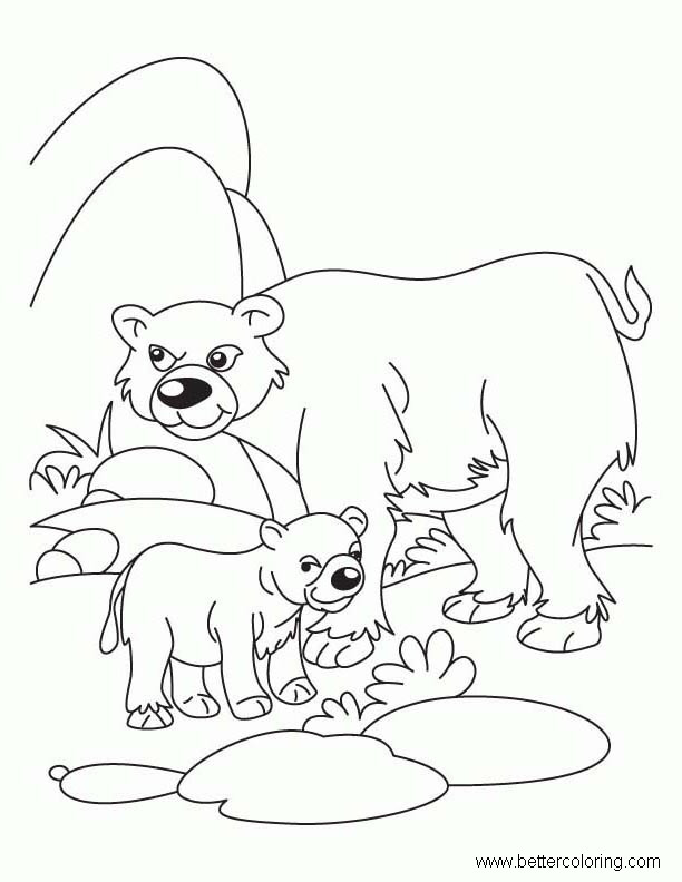 Free Build A Bear Coloring Pages Mom and Baby Bear printable