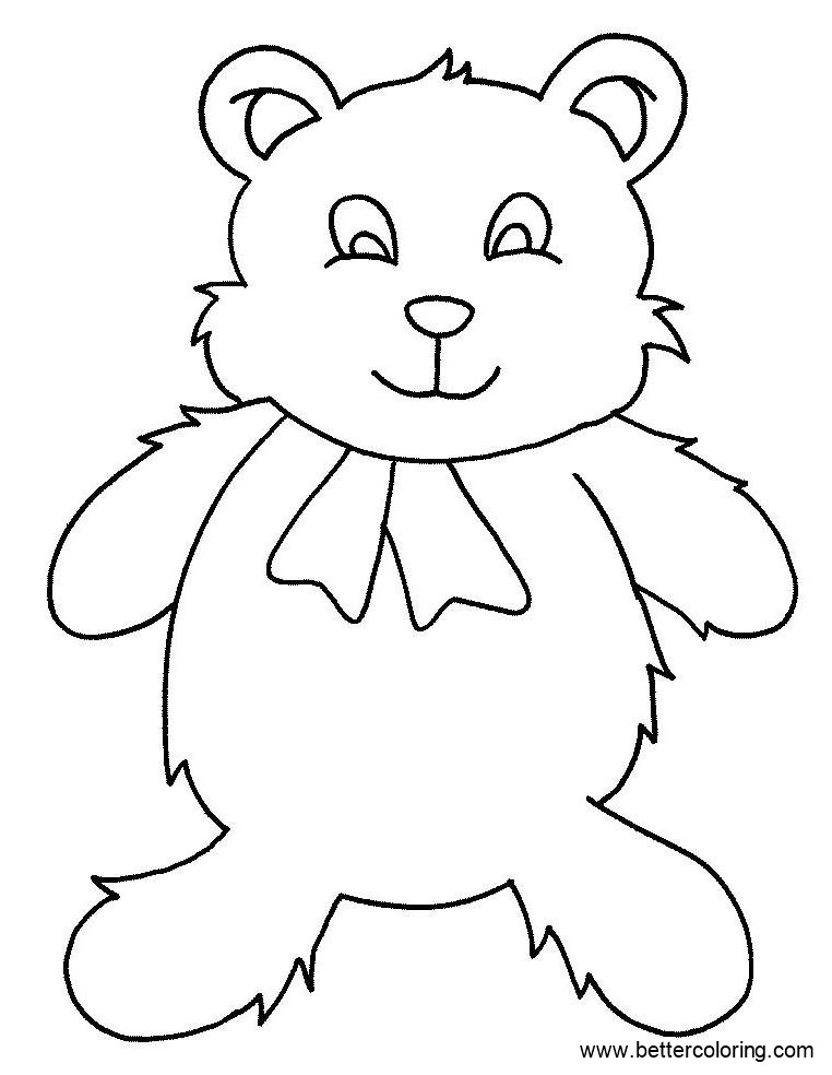 Free Build A Bear Coloring Pages Simple Bear Drawing printable