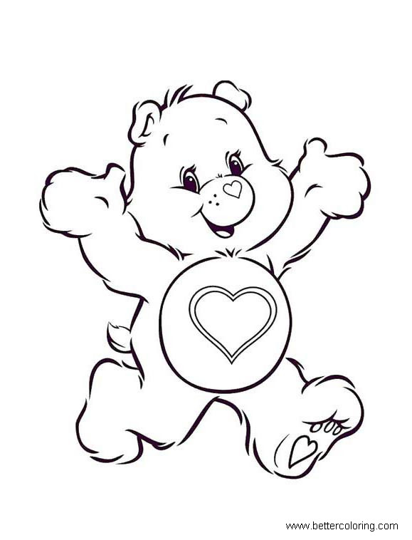 build a bear coloring pages tender heart bear free printable