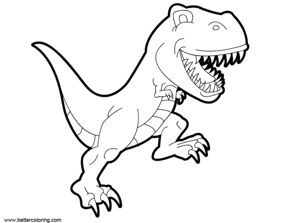 Free Cartoon Jurassic World Fallen Kingdom Coloring Pages printable
