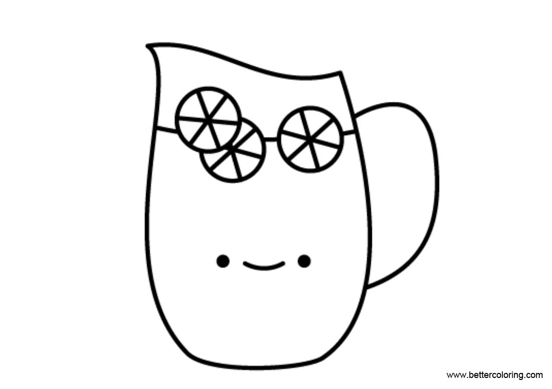 Free Cartoon Lemonade Coloring Pages printable