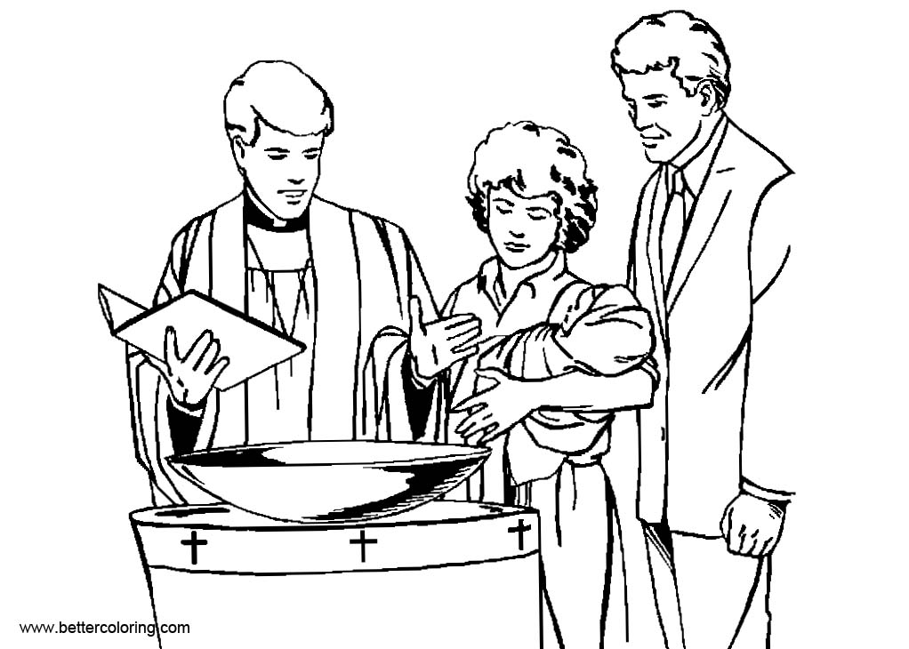 baptism coloring pages for kids - photo#21