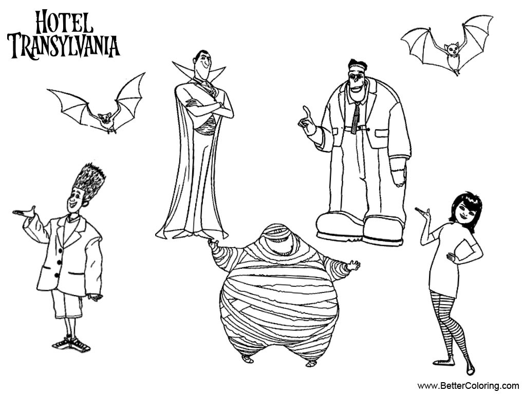 Free Characters from Hotel Transylvania Coloring Pages printable