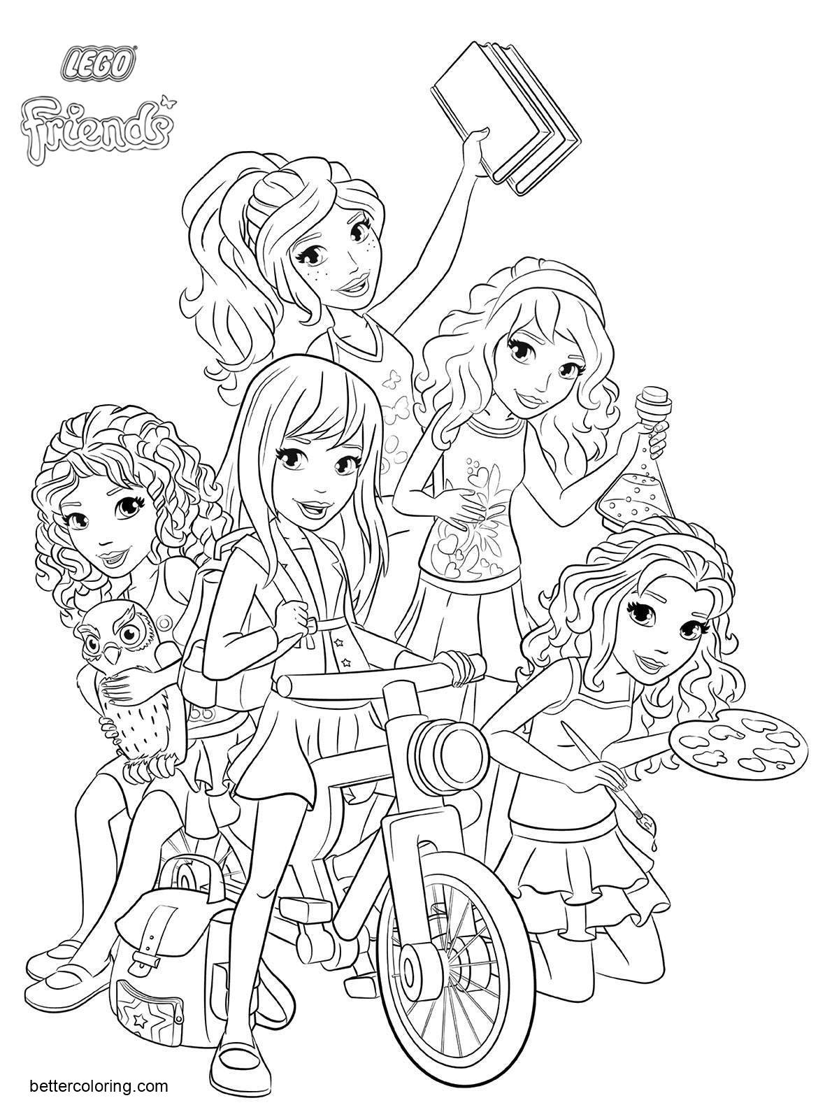 Free Characters from LEGO Friends Coloring Pages printable