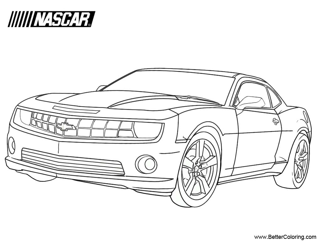 Free Chevrolet Nascar Coloring Pages printable