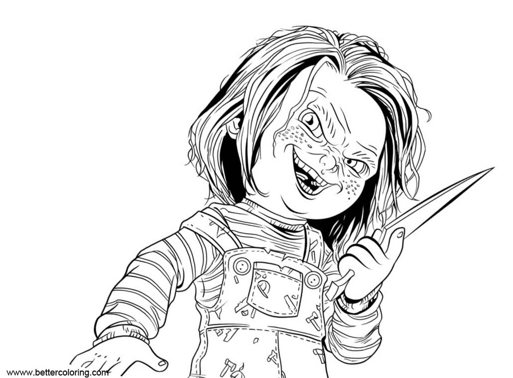 Chucky Coloring Pages Chucky Childs Play
