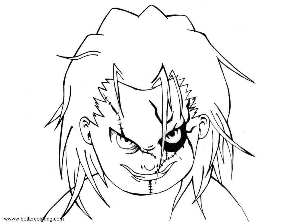 Free Chucky Coloring Pages Fan Art themondracas printable