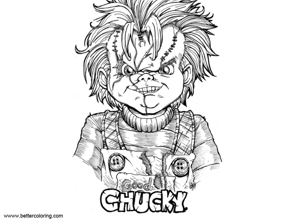 Free Chucky Coloring Pages Return of Chucky by Kim san printable