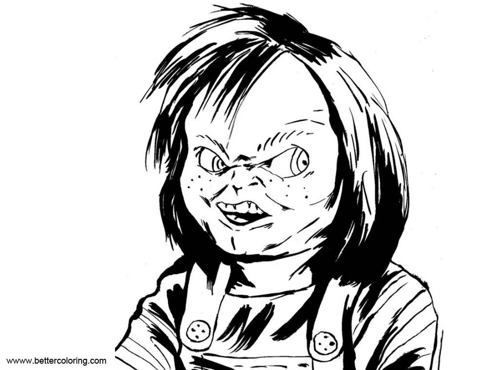 Chucky Coloring Pages Sketch by Narcisticthinker - Free ...