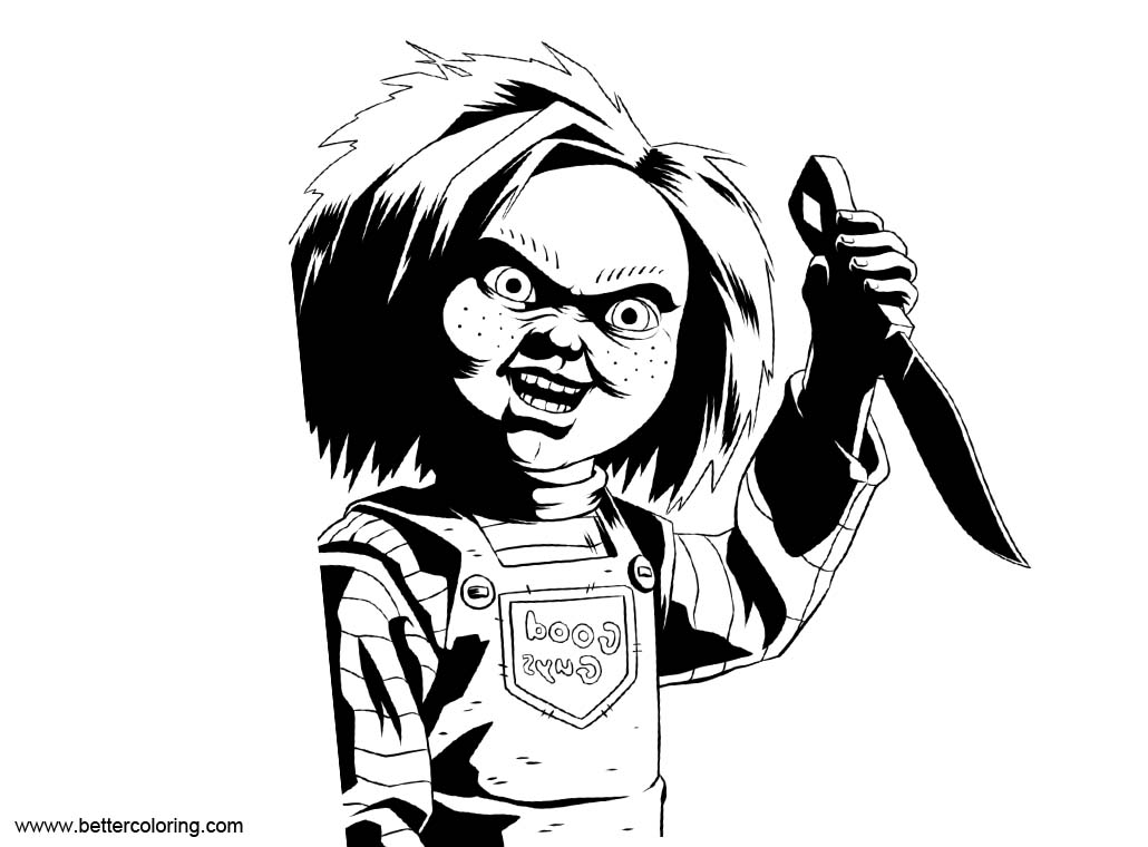 Free Chucky Coloring Pages Sketch printable