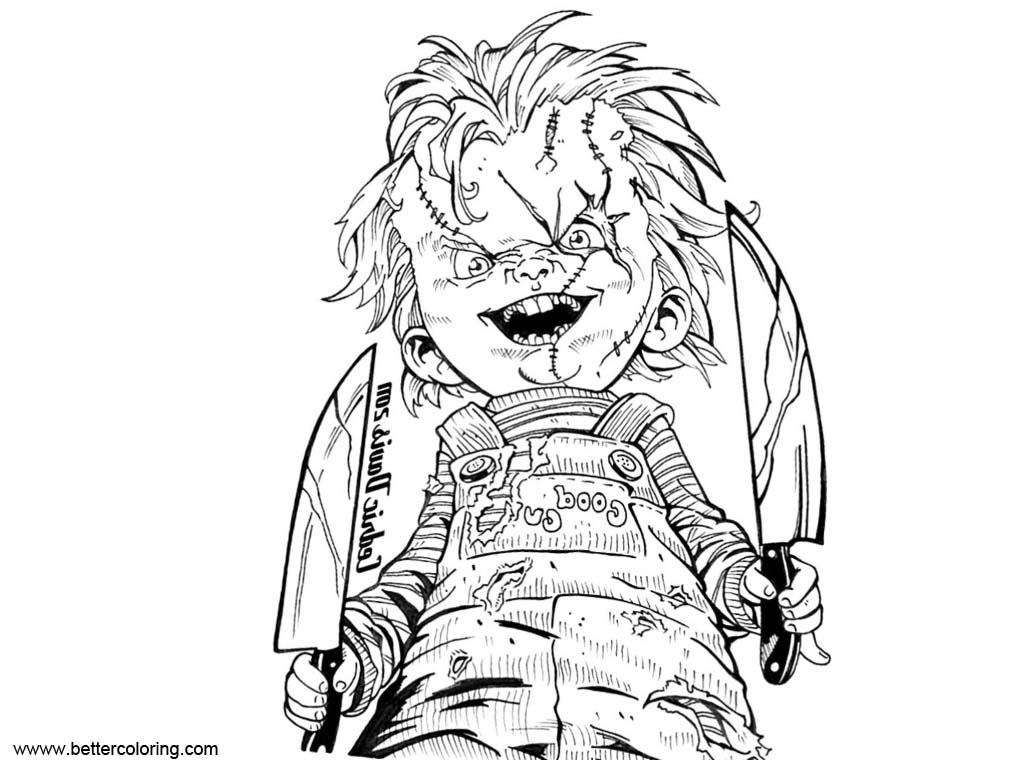 Free Chucky Coloring Pages by PrinceDamian92 printable