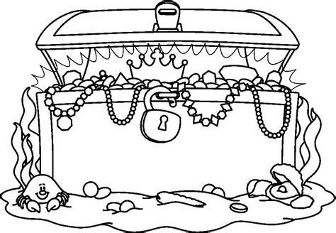 Free Coloring Pages of Treasure Chest printable