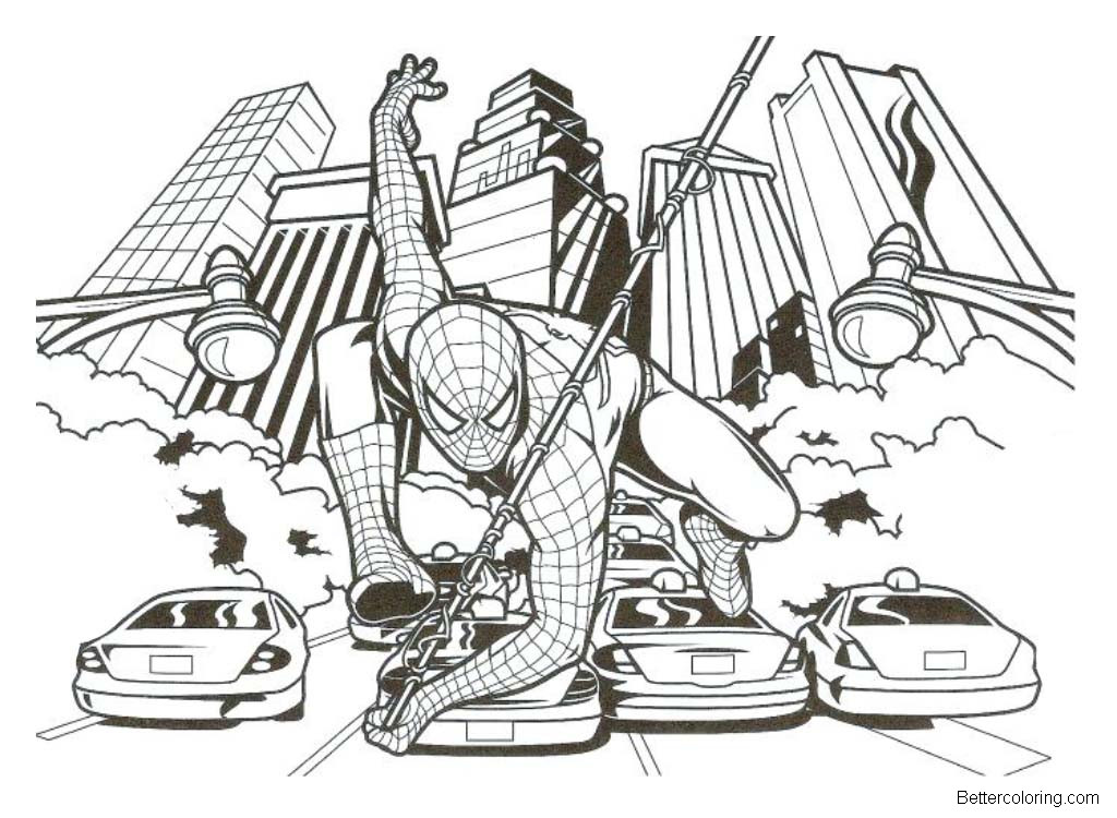 Free Cool Spiderman Homecoming Coloring Pages printable