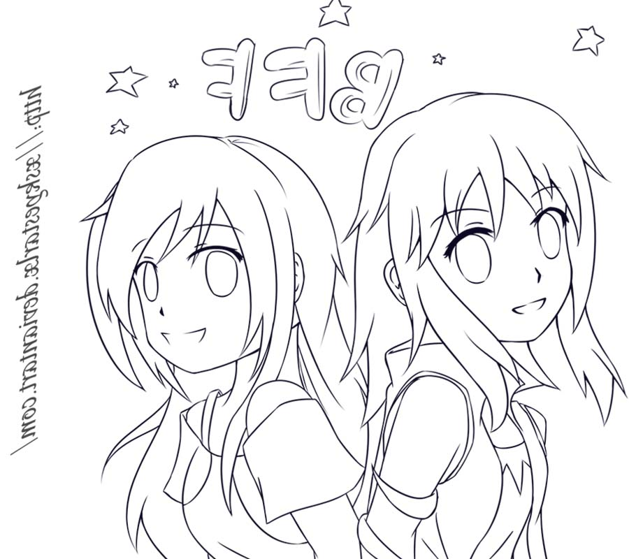 Cute Bff Coloring Pages Line Art By Syea Free Printable Coloring Pages